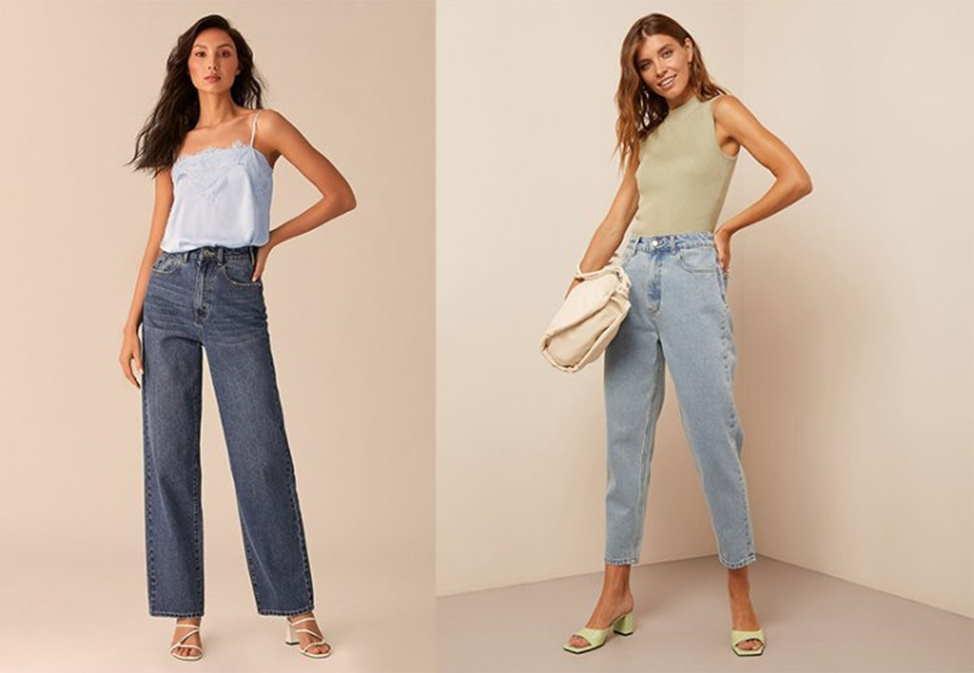 женские прямые джинсы из 60-х